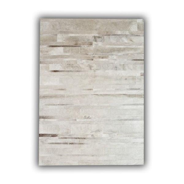 Dywan skórzany Grey Stripes, 140x200 cm
