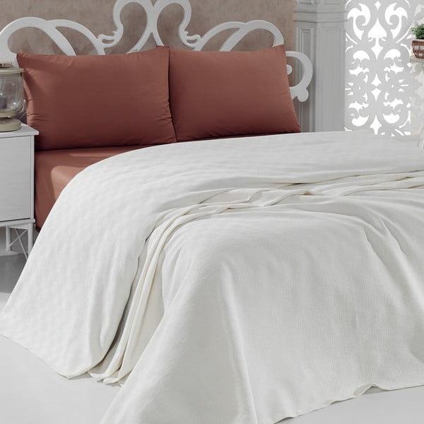 Lekka narzuta bawełniana Pique Cream, 200x240 cm