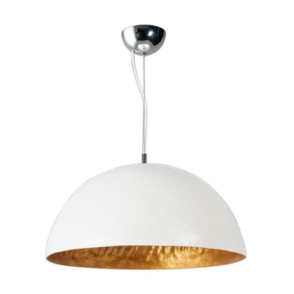 Biało-miedziana lampa wisząca ETH Mezzo Tondo, ⌀ 50 cm