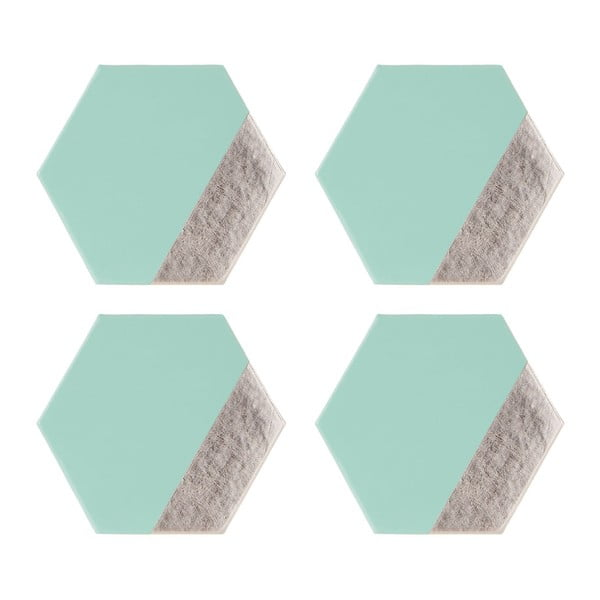 Zestaw 4 podkładek ze skóry ekologicznej Premier Housewares Meda, 10x11