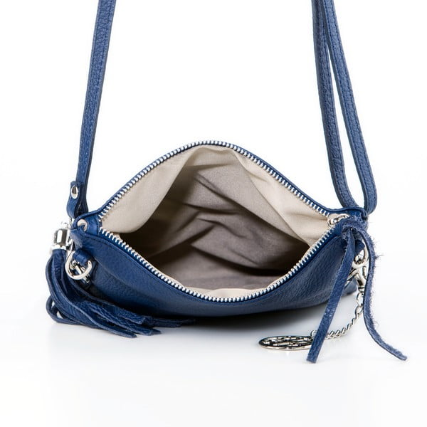 Skórzana torebka Roberto, granatowa