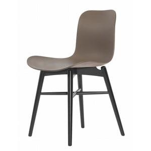 Brązowe krzesło do jadalni NORR11 Langue Stained