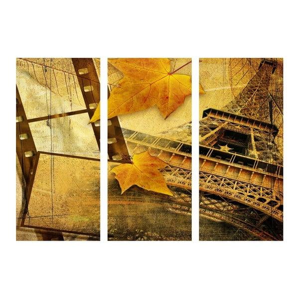 Obraz trzyczęściowy Listopad w Paryżu