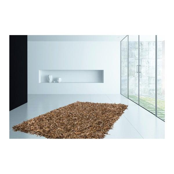 Beżowy skórzany dywan Rodeo, 120x170cm