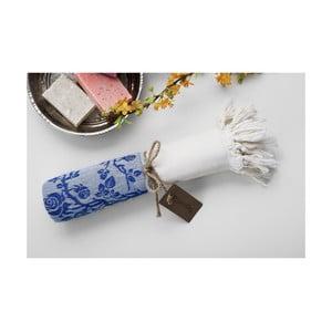 Ręcznik hamam Platin Blue, 100x180 cm