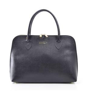 Skórzana torebka Dominique, czarna