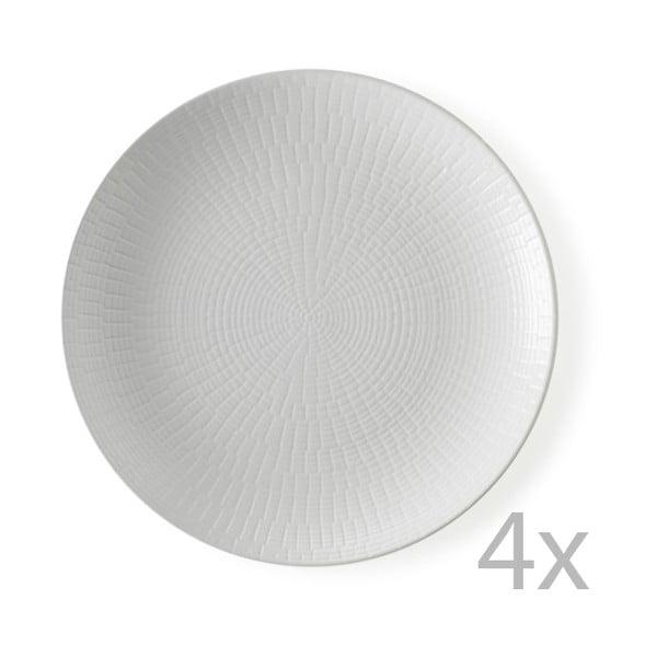 Zestaw 4 talerzyków deserowych Granaglie Blanc, 21 cm