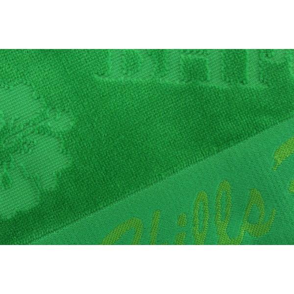 Ręcznik bawełniany BHPC Velvet 50x100 cm, zielony