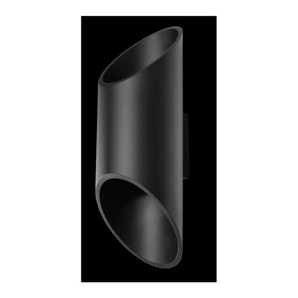 Czarny kinkiet Nice Lamps Nixon, długość 30 cm