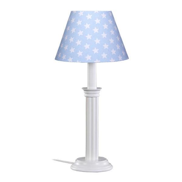 Lampa stołowa Blue White Stars