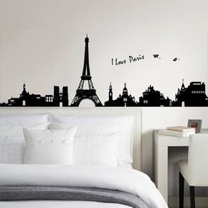 Naklejka ścienna I Love Paris, 60x90 cm