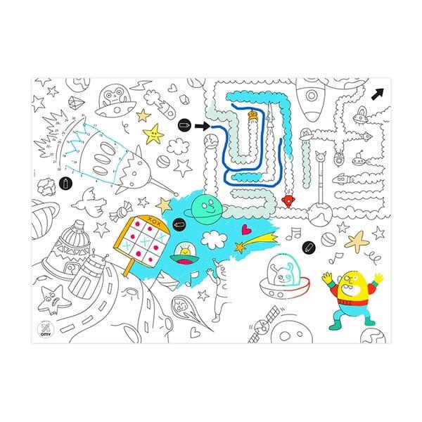 Mata stołowa – kolorowanka dla dzieci Games, 24 sztuki