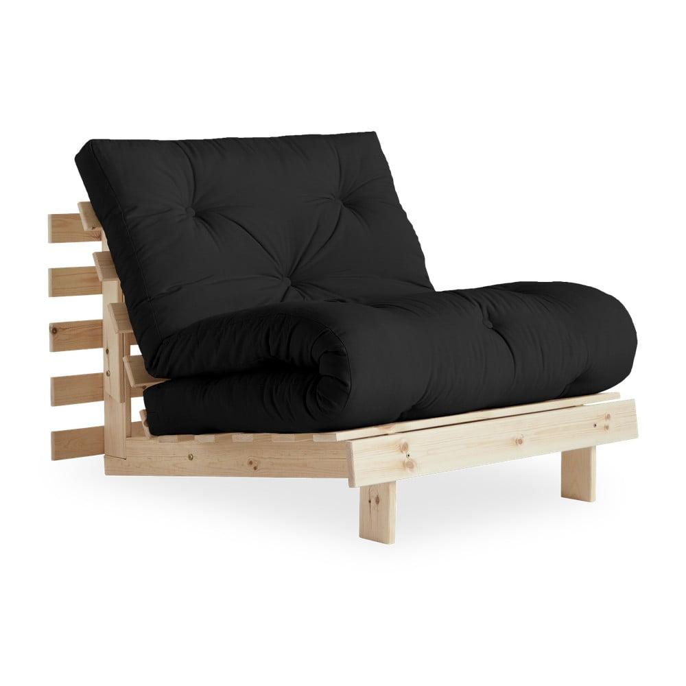 Fotel rozkładany Karup Design Roots Raw/Dark Grey