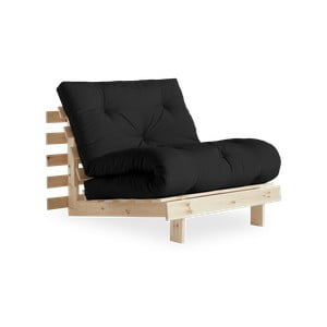 Fotel rozkładany Karup Design Roots Raw/Dark Dark Grey
