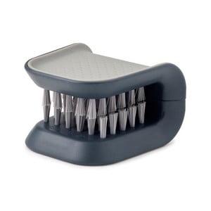 Szara szczotka do mycia noży i sztućców Joseph Joseph BladeBrush