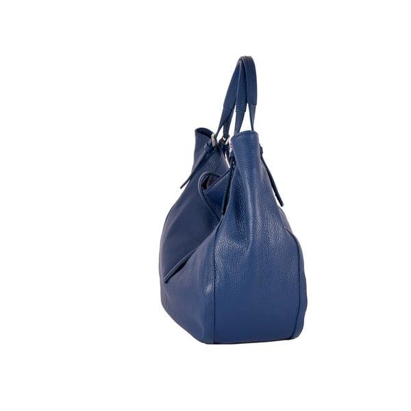 Niebieska torebka skórzana Andrea Cardone Luca