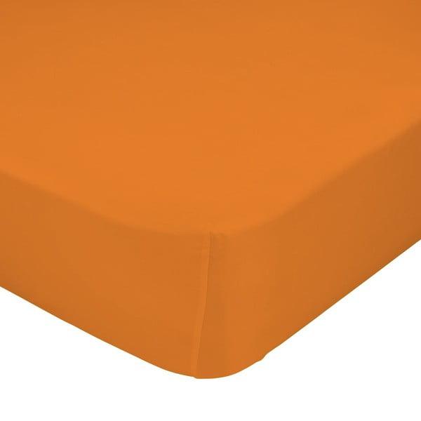 Pomarańczowe prześcieradło elastyczne Happynois, 70x140 cm