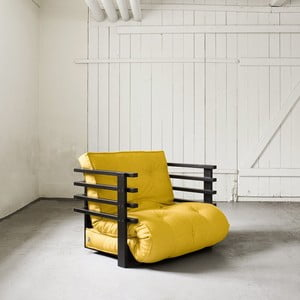 Fotel rozkładany Karup Funk Black/Amarillo