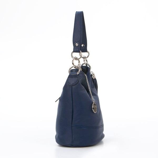 Skórzana torebka Luigi, granatowa