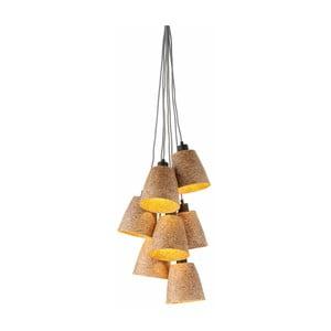 Lampa wisząca ze ścieru drzewnego z 7 kloszami Good&Mojo Sequoia