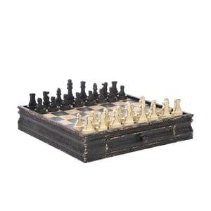 Szachy i szachownica Black/Beige