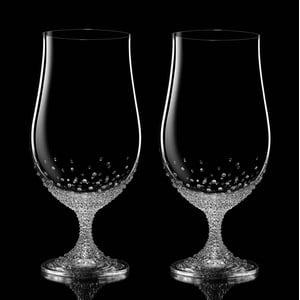 Zestaw 2 szklanek do piwa Pontus ze Swarovski Elements