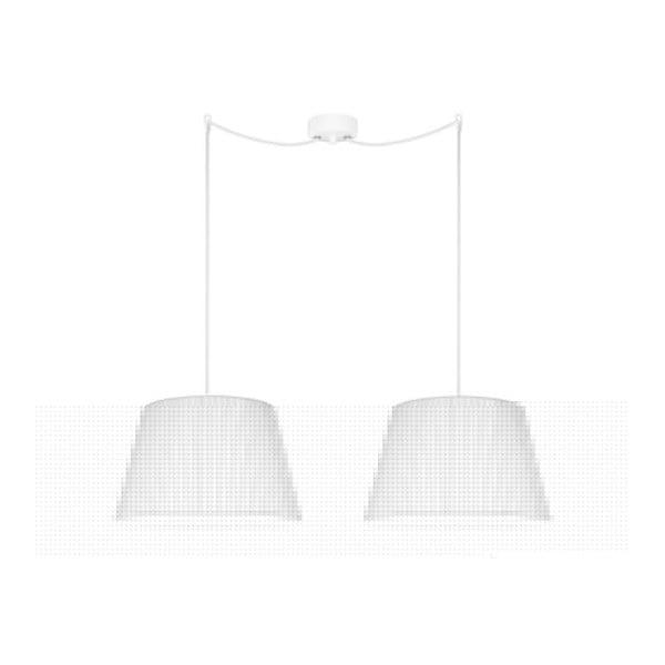 Biała   lampa wisząca Bulb Attack Dos Plisado, ⌀ 36 cm
