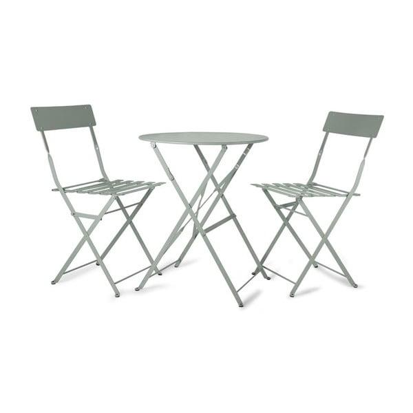 Stół ogrodowy i 2 krzesła Rive Bistro Mint