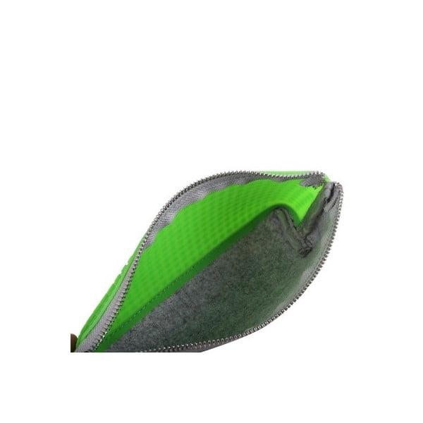 Pikselowy piórnik, szary/zielony
