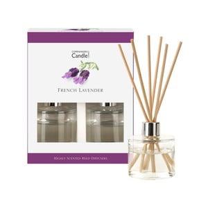 Zestaw 2 dyfuzorów zapachowych o zapachu lawendy Copenhagen Candles French,40 ml