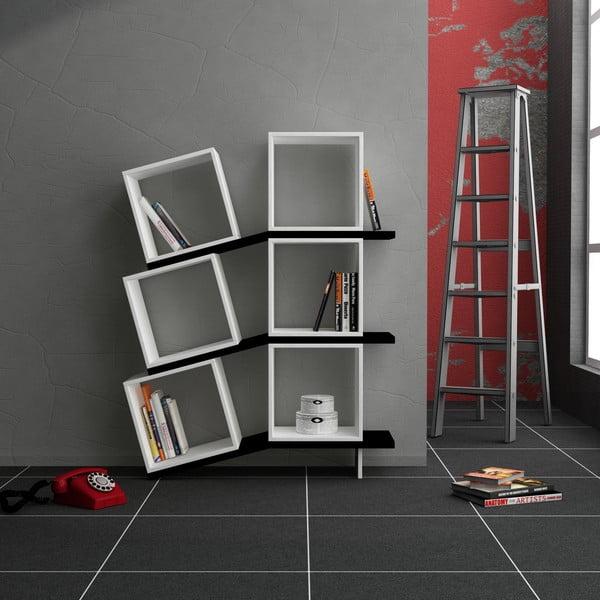 Biblioteczka Balance, biała/czarna