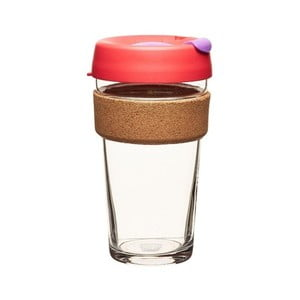 Kubek z pokrywką KeepCup Brew Cork Edition Sumac, 454 ml