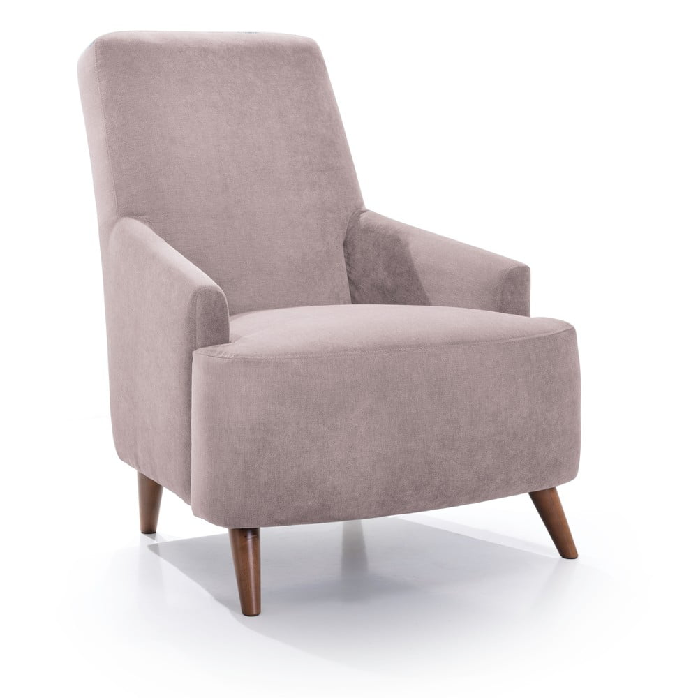 Różowoszary fotel Scandic Slope