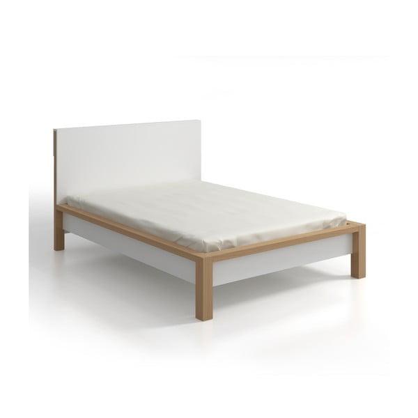 Łóżko 2-osobowe z drewna sosnowego ze schowkiem SKANDICA InBig, 160x200 cm