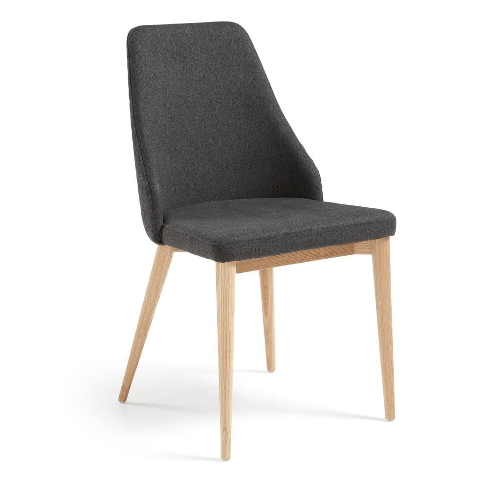 Zestaw 2 grafitowych krzeseł do jadalni La Forma Roxie