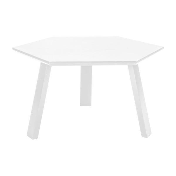 Stolik Hexagon Pearl White, 70x37x70 cm