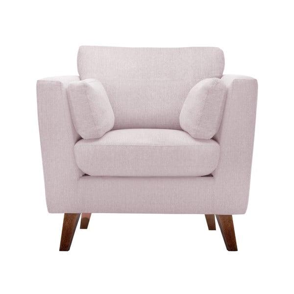 Zestaw fotela i 2 sof dwuosobowej i trzyosobowej Elisa, pastelowe róż