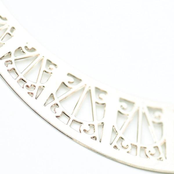 Kolczyki Arch Silver, 6 cm