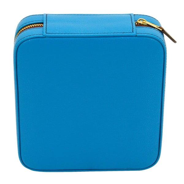 Niebieski kuferek na biżuterię Ascot