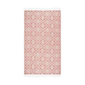 Pomarańczowy ręcznik hammam Kate Louise Bianca, 165x100cm