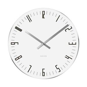 Biały zegar Present Time Slim Index