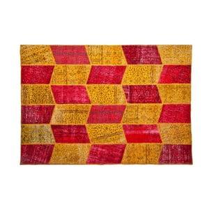 Dywan wełniany Allmode Yellow Red, 150x80 cm
