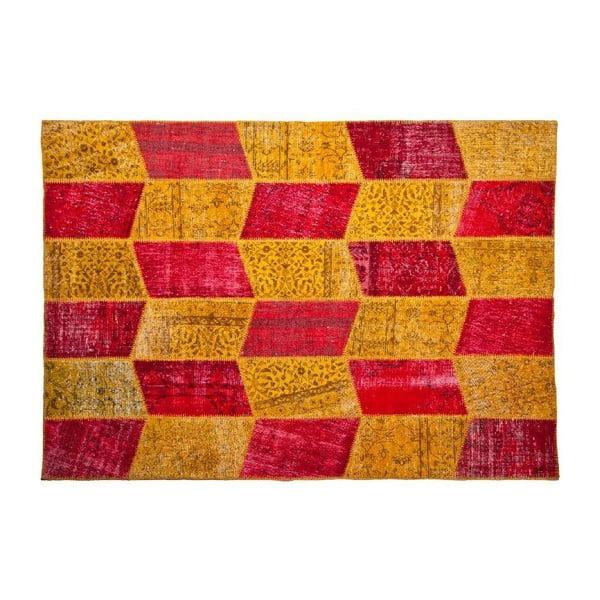 Dywan wełniany Allmode Yellow Red, 180x120 cm