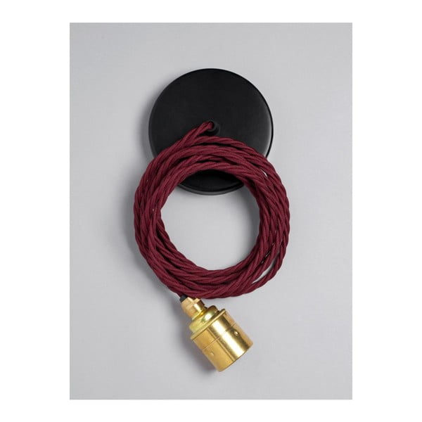Kabel Brass Skirt Burgundy Black
