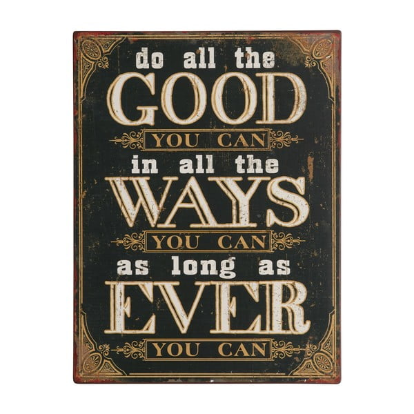 Tablica Do all the good you can, 35x27 cm