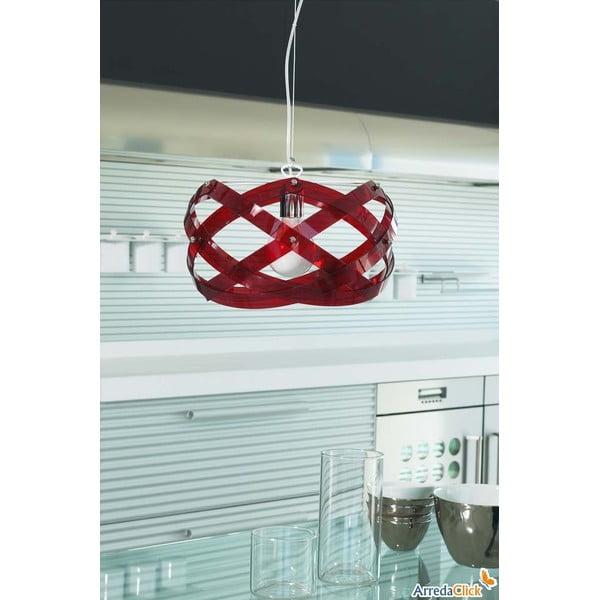 Lampa wisząca Nuclea Emporium 40 cm, czerwona