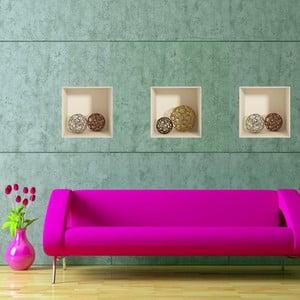Sada 3 samolepek z efektem 3D Fanastick Spheres