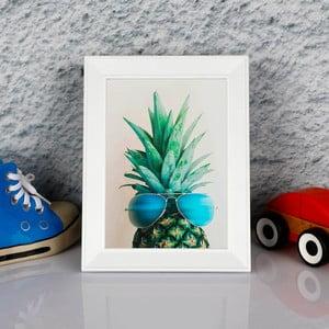 Obraz w ramie Dekorjinal Pouff Peanapple With Glasess, 23x17cm