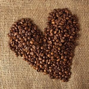 Obraz Serce z kawy, 28x28 cm