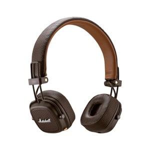 Brązowe słuchawki bezprzewodowe Marshall Major III